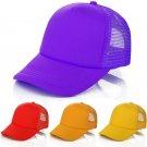 Adjustable Baseball Cap Solid Trucker Mesh Blank Curved Visor Hat Fashion Unused