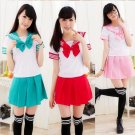 Cosplay  Japan School Uniform Sweet Dress Sailor Suit Costume Anime Girl  2016