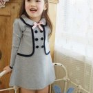 Cheap Kids Toddler Girls Clothing Round Pure Color Coat Tops Tutu Dress Skirt  B