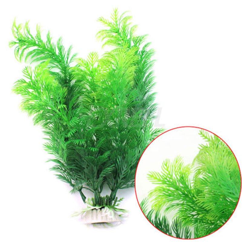 Aquarium Decor Planting Artificial Plastic Underwater Grasses Stands To Plants