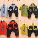 Boy Kid Toddler Clothing T-shirt Blazer +Trousers Sets Suit Sz 1-5Y Hot Soft New