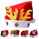 2016 Adult / Kids Plush Fluffy Red Christmas Santa Hat Thickened Cap Family Xmas