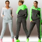 Women 2pcs Tracksuit Hoodies Sweats Sweatshirt Pants Sets Sport Wear Casual US