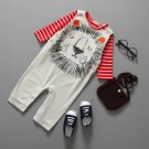 2Pcs Baby Girl Boy Infant t-Shirt + Romper Playsuit Babygrow Clothes Outfit Cute