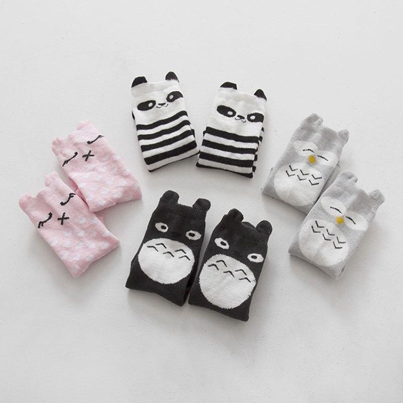 Lovely Children Kids Girls Cartoon Soft Cotton Socks Knee High Hosiery 17 Styles