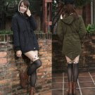 Fleece Hooded Coat Womens Overcoat Jacket Trench Warm Parka Winter Outwear HOT