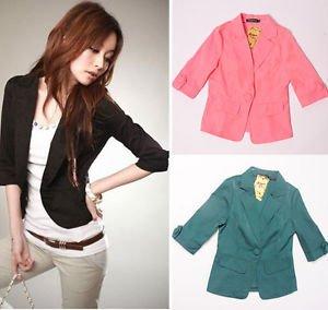 Business Suit Clothing Slim OL Ladies Womens Suit Coat Blazer Jacket HOT Newest