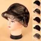 Lady Pop 100% Genuine Mink Fur Hat Winter Fur Headdress Beret Cap Hats Headgear