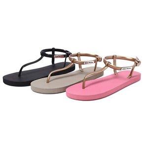 2016 Women T-Strap Thong Sandal Slingback Gladiator Flip Flops Stye Flat Shoe UL