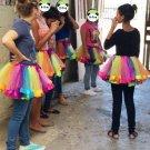 Kids Lovely Handmade Colorful Skirt Girls Rainbow Tulle Tutu Mini Dress  Fashion