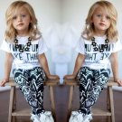 2pcs Toddler Kids Baby Girls T-shirt Tops+Long Pants Leggings Outfit Clothes Use