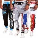 Mens Sweatpant Jogger Dance Sportwear Baggy Harem Slacks Camo Bboy Trousers
