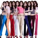 Womens Basic Cotton Slim Pants Colorful Pencil Skinny Jeggings Bottom Fashion