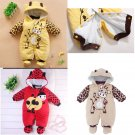2016 Newborn Girl Boy Baby Romper Clothes Outfit Winter Outwears Hoodie Jumpsuit