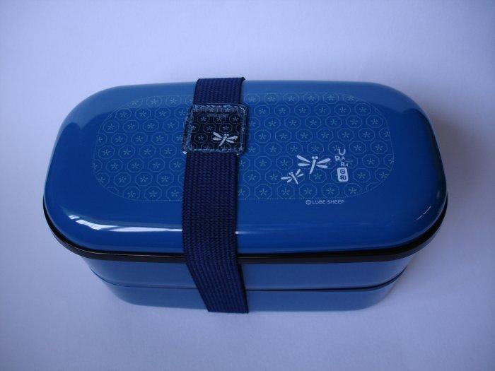 Blue Dragonfly 2 Tier Bento Box