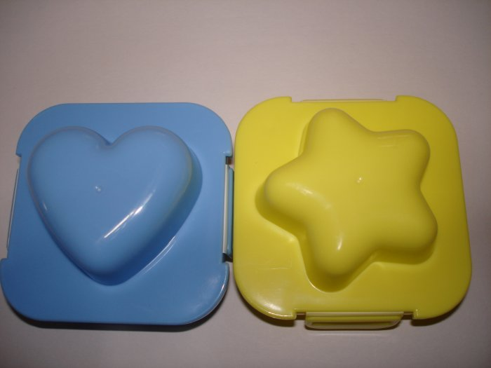 Set of 2 Egg Molds, Star and Heart Shaped