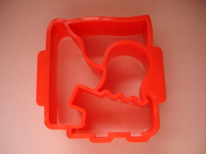 4 design Red Sandwich Cutter
