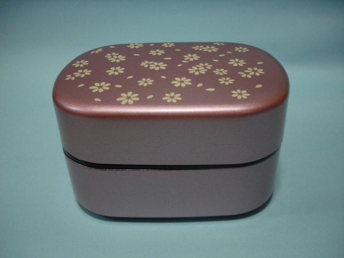 Lavender Flower Design 2 Tier Bento Box
