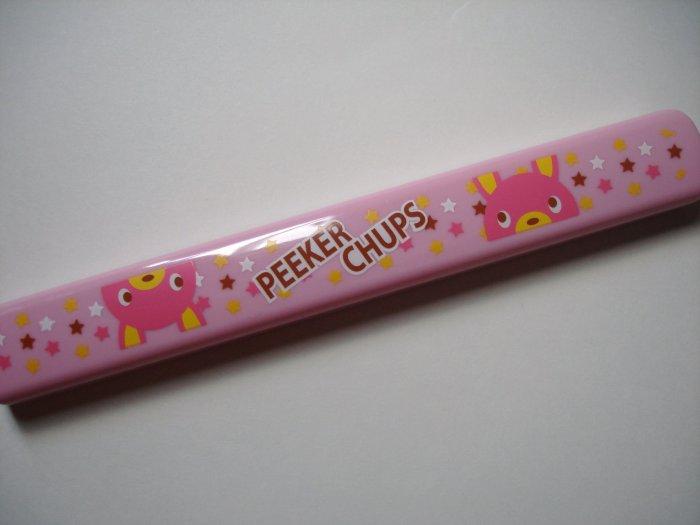 Peeker Chups Pink Rabbit Chopsticks and Case