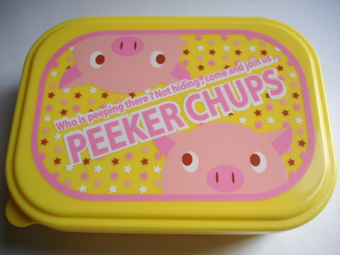 Peeker Chups One Tier Pig Bento Box