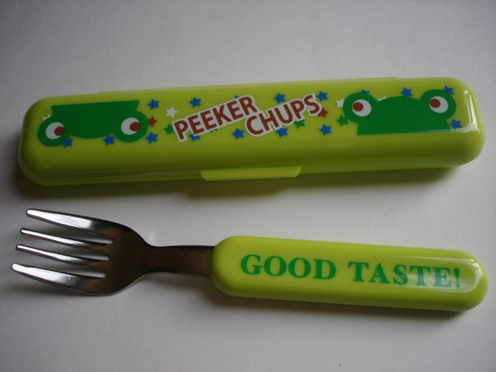Peeker Chups Frog Fork and Case