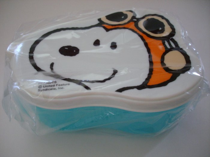 Cute Aviator Snoopy One Tier Bento Box