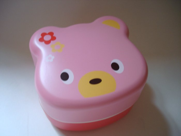 Chups Pink Bear Shaped Bento Box