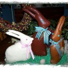 Handmade Chocolate Easter Rabbits ~ Set of Three