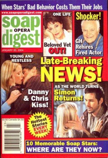 Soap Opera Digest 1 20 2004 Late Breaking News  magazine