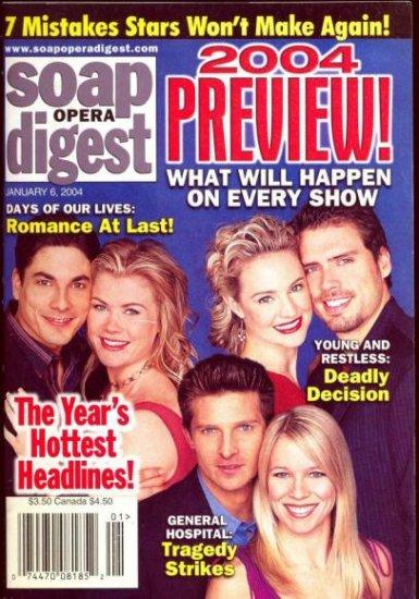 Soap Opera Digest  magazine 1 6 2004 Joshua Morrow Steve Burton