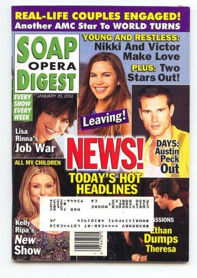 Soap Opera Digest  magazine 1 29 2002 Austin Peck Kelly Ripa