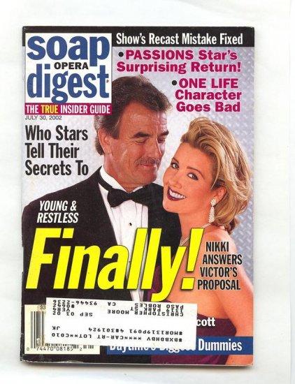 July 30  Soap Opera Digest  Magazine 7 30 2002 Melody Thomas Eric Braeden