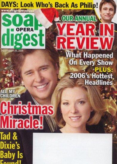 Soap Opera Digest 12 26 2006 M Knight Cady McClain AMC