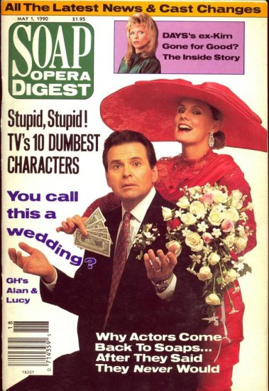 Soap Opera Digest 5 1 90 Stuart Damon Lynn Herring
