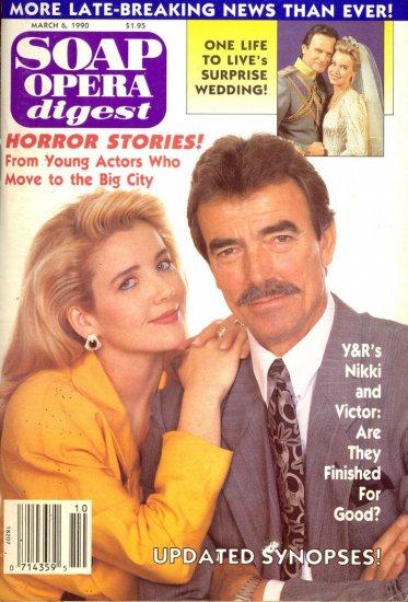 Soap Opera Digest 3 6 90 Nikki & Victor YR Magazine
