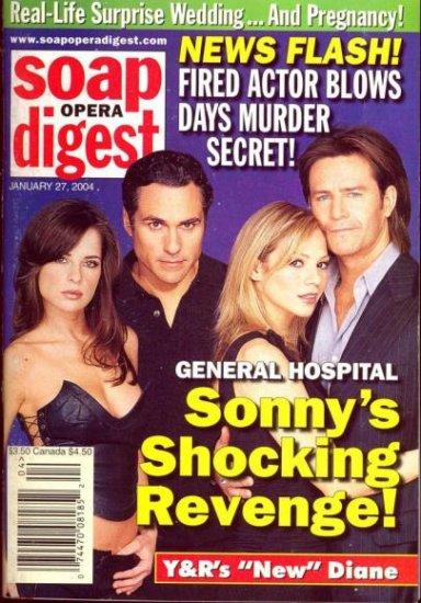 Soap Opera Digest 1 27 2004 Kelly Monaco Ted King
