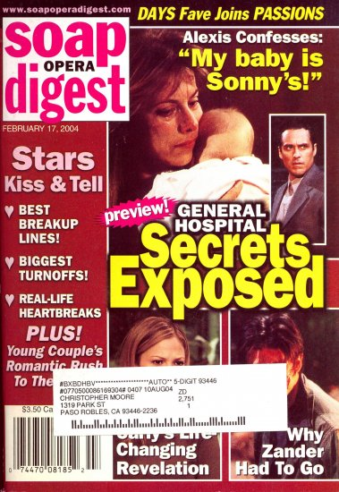 Soap Opera Digest 2 17 2004 GH Secrets Exposed