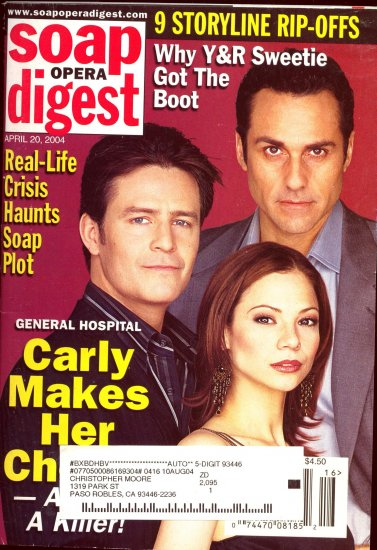 Soap Opera Digest 4 20 2004 Maurice Benard Ted King