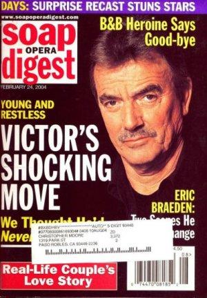 Soap Opera Digest 2 24 2004 Eric Braeden Y&R Victor Magazine