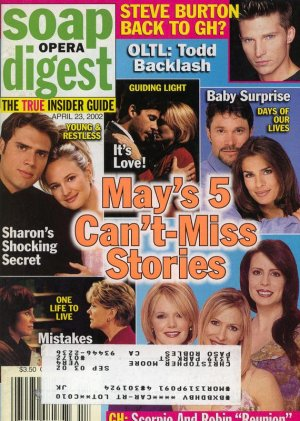 Soap Opera Digest 4 23 2002 May's Can't miss stories