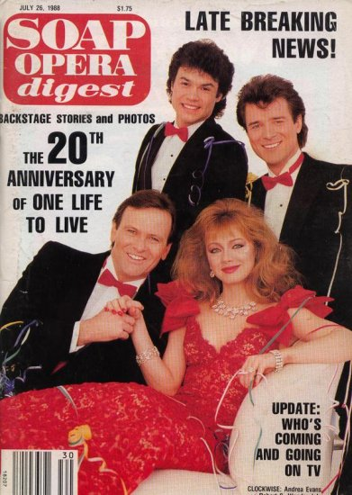 Soap Opera Digest 7 26 1988 Andrea Evans James DePaiva