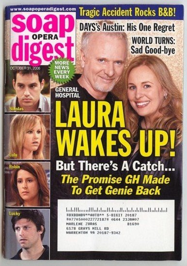 Soap Opera Digest  Oct 31 2006 Laura Luke GH Digests 10 31 2006