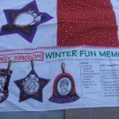 Daisy Kingdom Christmas Ornament Cut out Pattern Winter Fun memory keepsake Ornaments