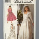 ***SOLD***1989 Uncut Simplicity 9505 Wedding Dress Pattern Jessica McClintock Petite  Patterns