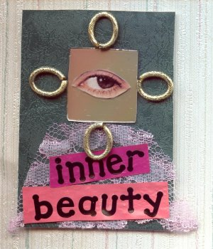 ACEO Card Inner Beauty Collage Art Card