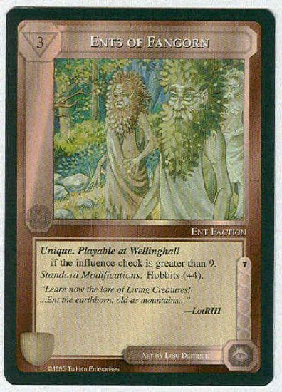 Middle Earth Ents Of Fangorn Wizards Fixed Game Card