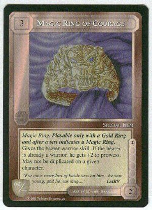 Middle Earth Magic Ring Of Courage Uncommon Game Card