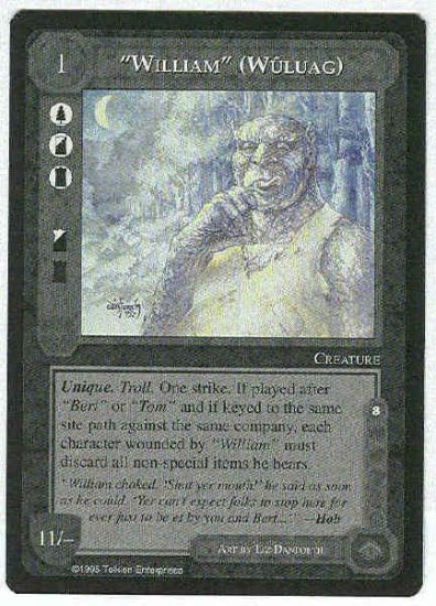 "Middle Earth ""William"" (Wuluag) Uncommon Game Card"