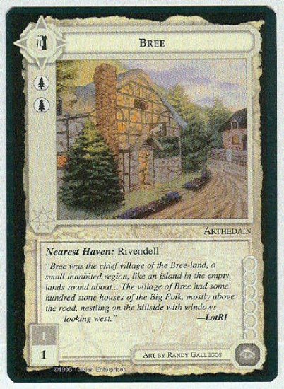 Middle Earth Bree Wizards Limited Fixed Game Card