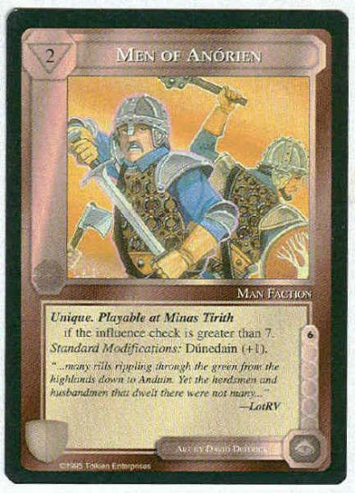 Middle Earth Men Of Anorien Wizards Limited Fixed Game Card